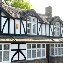 Replaced timber on Tudor cottage