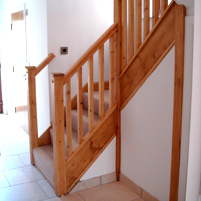 The first level of a staircase